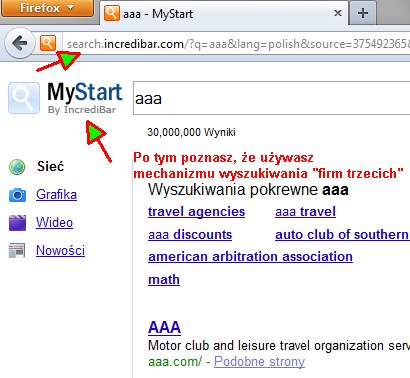 1 Jak usunąć dodatkowe wyszukiwarki z przeglądarki (np. Incredibar)