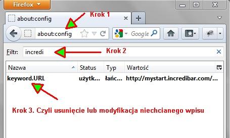 2 Jak usunąć dodatkowe wyszukiwarki z przeglądarki (np. Incredibar)